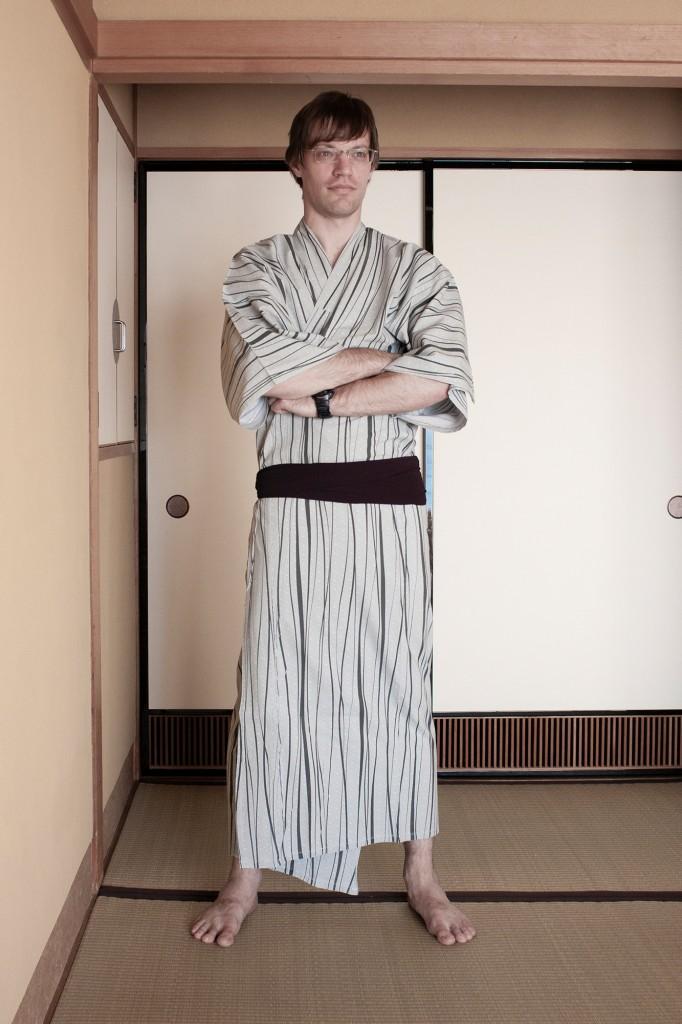 Flo Szeywerth in einem Kimono in Japan