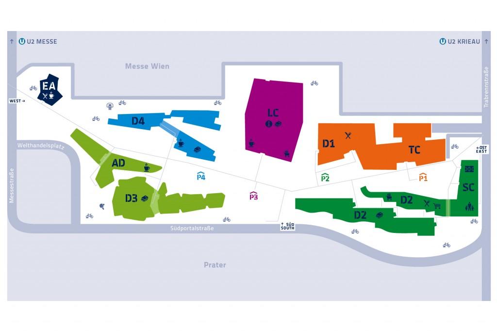 Lageplan vom Campus