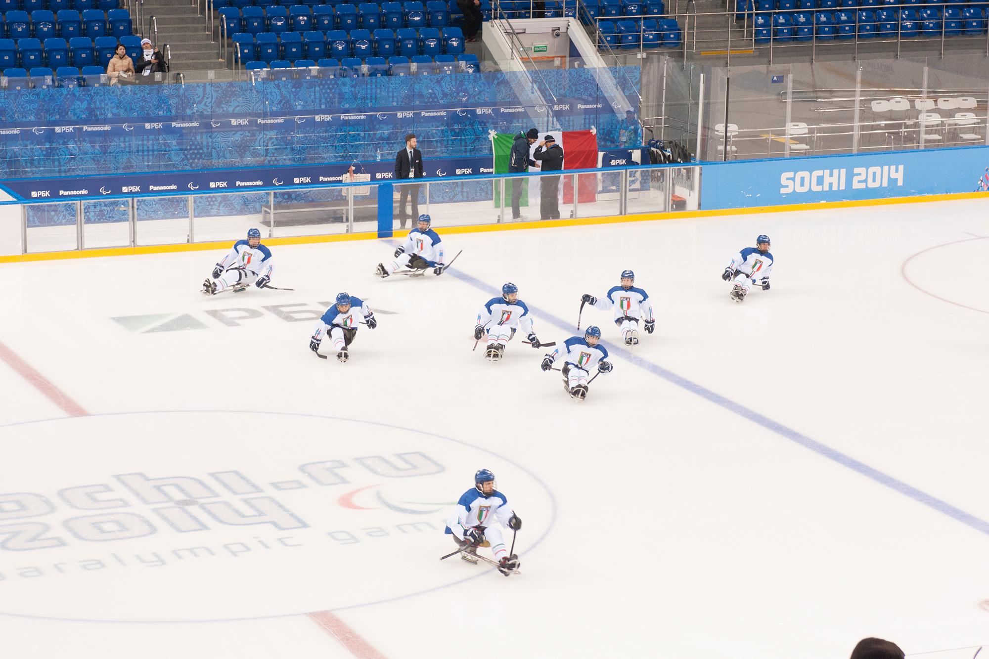 Eishockeyspieler auf Rollen